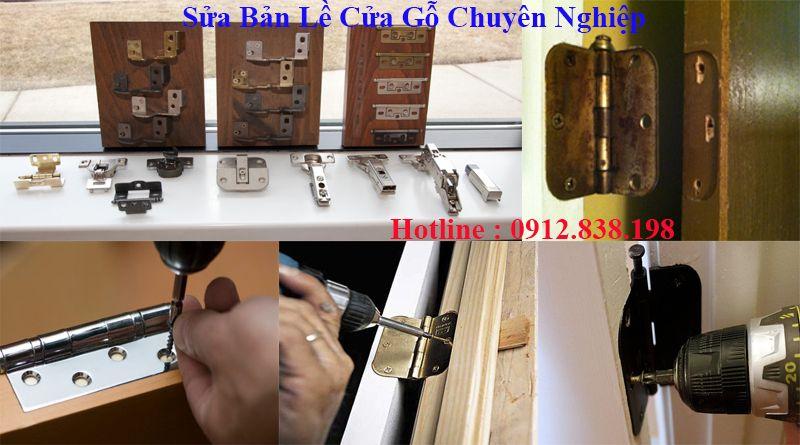 Sửa bản lề cửa gỗ tại nhà