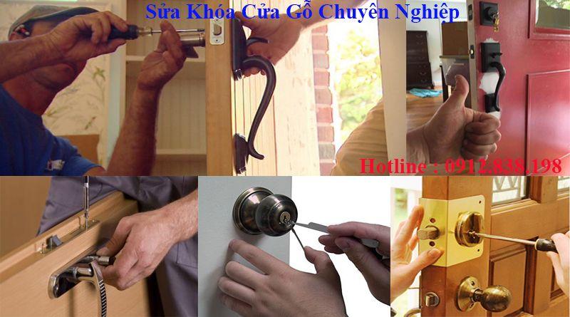 Sửa khóa cửa gỗ an toàn
