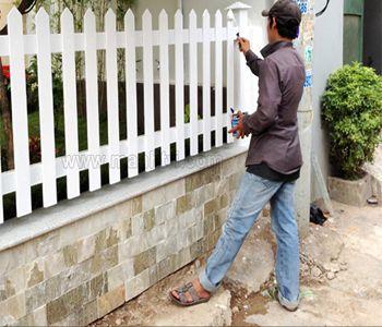 Sơn hàng rào sắt tại Hà Đông
