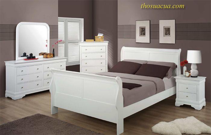 Đồ gỗ nội thất màu trắng