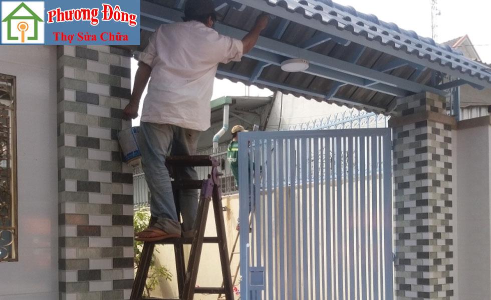 Thợ sơn cửa sắt tại Hoàng Mai