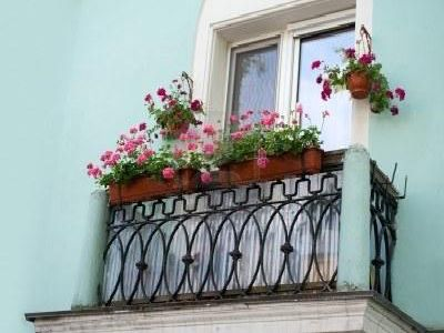 Khung sắt treo chậu hoa