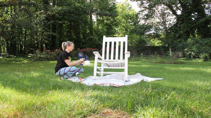 Tự sơn đồ gỗ màu trắng