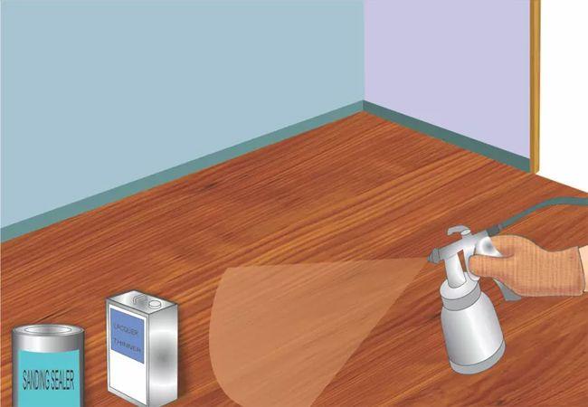 Cách sơn sàn gỗ 1