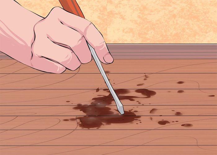 Loại bỏ vết ố mốc trên sàn gỗ 1