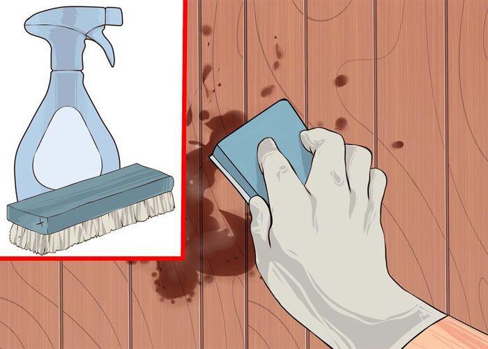 Loại bỏ vết ố mốc trên sàn gỗ 2