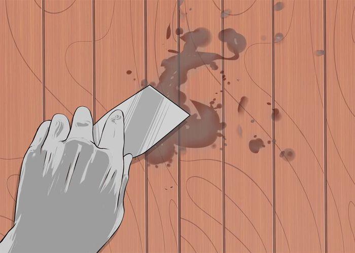 Loại bỏ vết ố mốc trên sàn gỗ 4