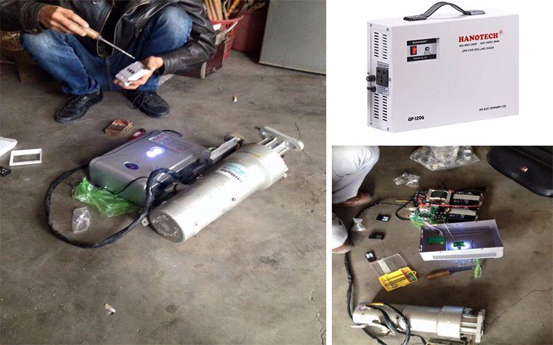 Sửa chữa bình lưu điện cửa cuốn