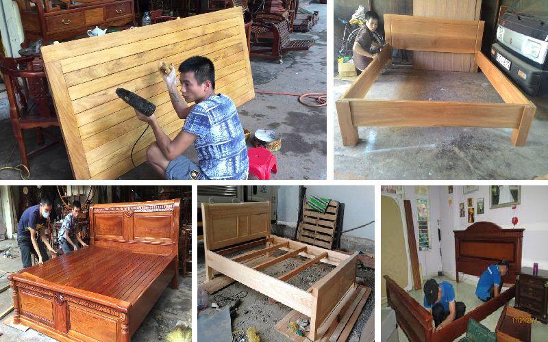 Sửa chữa giường gỗ