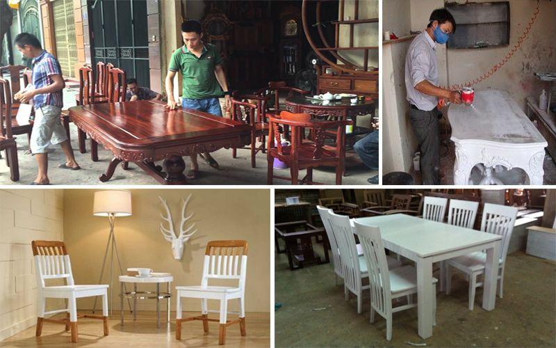 Sơn pu - Đánh vecni bàn ghế gỗ tại Hà Nội - TpHCM