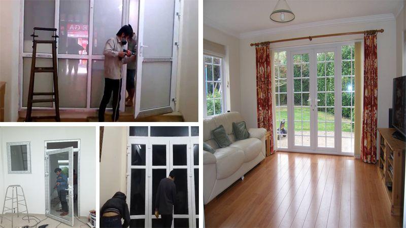 Sửa cửa nhựa lõi thép tại nhà chuyên nghiệp