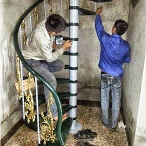 Thợ sửa chữa cầu thang sắt tại Hà Nội tới sau 15 phút