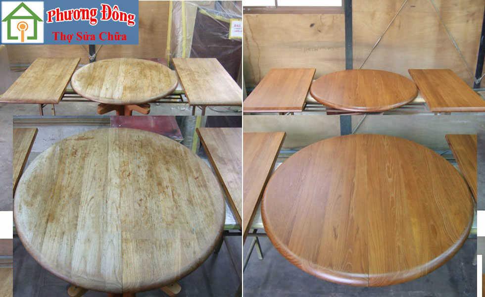 sơn mặt bàn gỗ