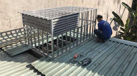 thợ sửa mái tôn